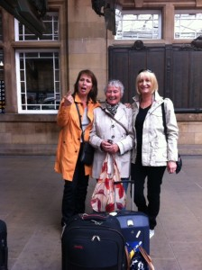 Why anyone would like to travel with the mouthy slapper on the left who knows - but lucky for me they do! We're off!